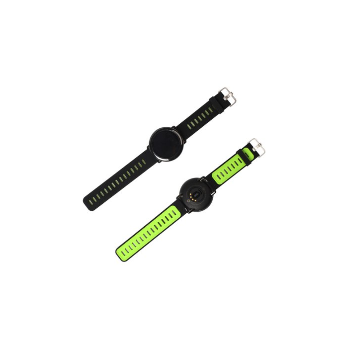 Huami Amazfit Smart Watch Silicone Strap - Black and Green